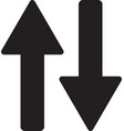 up down arrow icon up down arrow icon vector image vector image