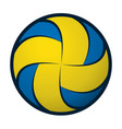 volleyball color silhouette vector image vector image