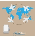World travel Tourism concept imageHolidays and vector image
