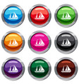yacht set 9 collection vector image vector image