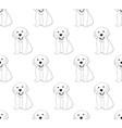 labrador golden retriever dog seamless on white vector image