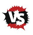Versus sign symbol vector image