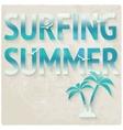surfing beach summer background vector image