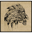 Tattoo Native American Indian chief vector image