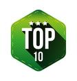 Top 10 - Ten hexagon patch vector image