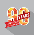 90th Years Anniversary Celebration Design vector image vector image