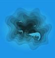a prawn sailing vector image vector image