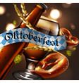 advertising traditional beer festival oktoberfest vector image vector image