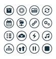 app icons universal set vector image vector image
