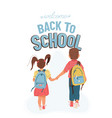 back to school background with greeting vector image