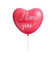 balloon heart shape declaration love isolated vector image