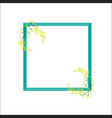 beautiful frame with green leaf vector image vector image