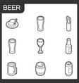 beer outline isometric icons vector image vector image