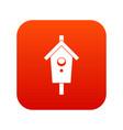 birdhouse icon digital red vector image vector image