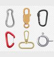 carabine hook climbers for hiking loop vector image