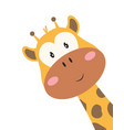 card with cute giraffe isolated on white vector image