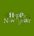 christmas poster happy new year green vector image vector image