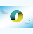 circle infographic template consists two vector image vector image