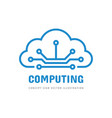 cloud computing hosting icon logo design hosting vector image