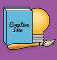 creative ideas set icons vector image vector image