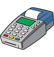 credit card terminal vector image