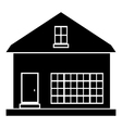 Cute country house icon simple style vector image vector image