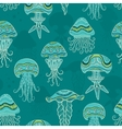 Decorative jellyfish in sea vector image vector image
