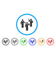 discuss standing persons rounded icon vector image vector image