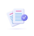 documents icon stack paper sheets confirmed vector image