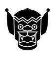 dragon - china icon black vector image vector image