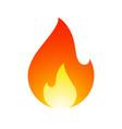fire flames new yellow orange icon vector image vector image