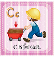 Flashcard of letter C vector image