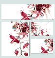 floral templates or invitation with orchid flowers vector image vector image