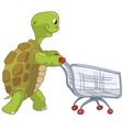 Funny Turtle Shopping vector image