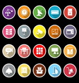 General office icons with long shadow vector image vector image