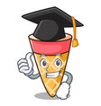 graduation ice cream tone character cartoon vector image vector image