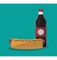 Hot dog and icon set of fast food concept vector image vector image