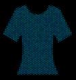 lady t-shirt mosaic icon of halftone circles vector image