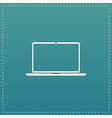 Laptop - icon sign and button vector image vector image