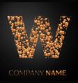 letter w logo gold dots alphabet logotype vector image