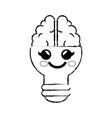light bulb cartoon idea vector image vector image