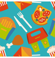 Menu pattern with fast food symbols vector image vector image