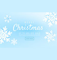 merry christmas and new year abstract with winter vector image vector image