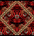 Modern paisley seamless pattern black red gold