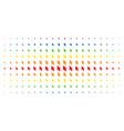 mouse cursor spectrum halftone grid vector image vector image