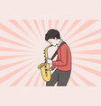 musician and playing saxophone concept vector image