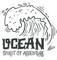 Ocean Spirit of adventure Hand drawn nautical vector image