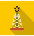 Oil rig icon flat style vector image