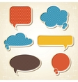 origami speech bubbles set vector image vector image