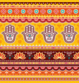 pakistani or indian truck art pattern vector image